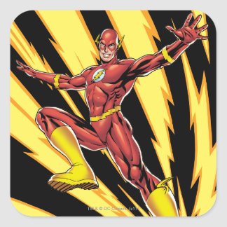 The Flash Lightning Bolts Square Sticker
