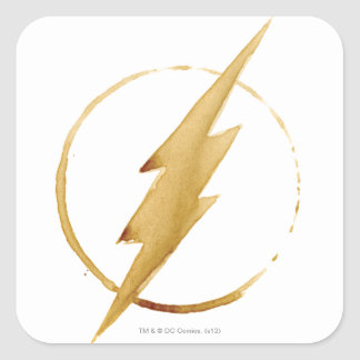 The Flash | Yellow Chest Emblem Square Sticker