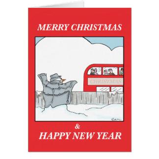 The Flashing Snowman Card