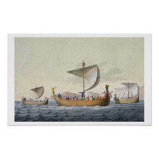 The Fleet of William the Conqueror, plate 8 from ' Poster