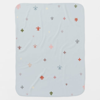 The Fleur-de-Lis - Vintage Pastel Colors Baby Blanket