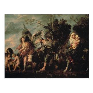 The Flight into Egypt, 17th century Postcard
