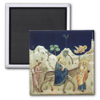 The Flight into Egypt 2 Square Magnet