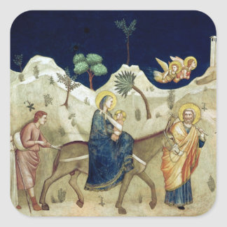The Flight into Egypt 2 Square Sticker