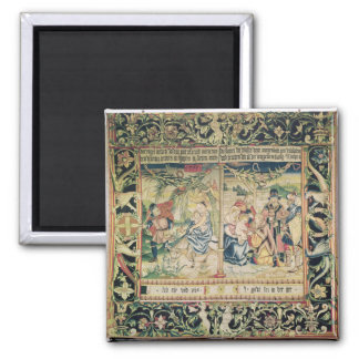 The Flight into Egypt and the Adoration of Square Magnet