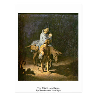 The Flight Into Egypt By Rembrandt Van Rijn Postcard
