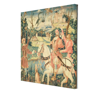 The Flight of the Heron Franco-Flemish Stretched Canvas Print
