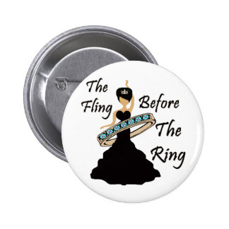 The Fling Before The Ring White Background 6 Cm Round Badge