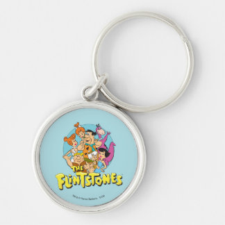 The Flintstones and Rubbles Family Graphic Key Ring