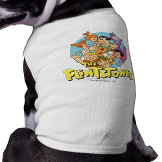 The Flintstones and Rubbles Family Graphic Sleeveless Dog Shirt