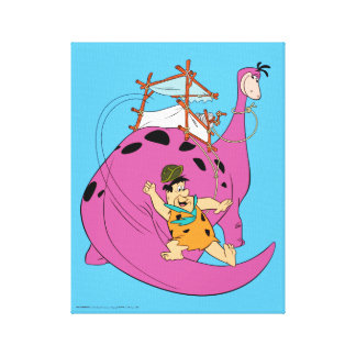 The Flintstones | Fred Sliding Down Tail Canvas Print