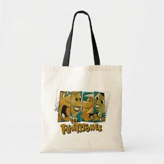 The Flintstones   Retro Comic Character Panels Tote Bag