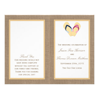 The Flip-Flop Sand Beach Burlap Wedding Collection 21.5 Cm X 28 Cm Flyer