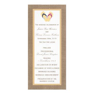The Flip-Flop Sand Beach Burlap Wedding Collection Rack Card Design