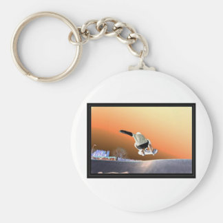 the flip side basic round button key ring