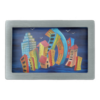 The Floating City Belt Buckle