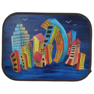 The Floating City Car Mat