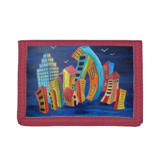 The Floating City Trifold Wallets