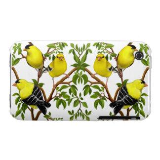 The Flock of Wild Goldfinch Birds iPhone 3 Case