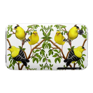 The Flock of Wild Goldfinch Birds Case-Mate iPhone 3 Cases