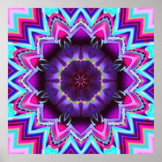 The Floral Kaleidoscope, fractal wallart Poster