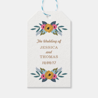 The Floral Wreath White Wedding Collection Gift Tags