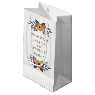 The Floral Wreath White Wedding Collection Small Gift Bag