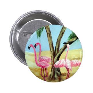 """""""The Florida Flamingos"""" Round Button"""
