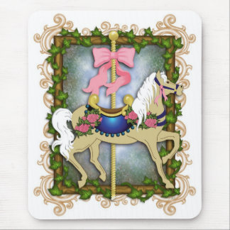 The Flower Carousel Mouse Pad