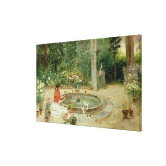 The Flower Garden, 1899 (oil on canvas) Canvas Prints