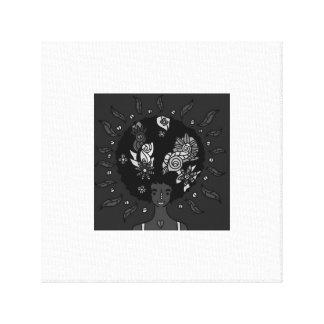 "The flower girl 12"" x 12"" Canvas Canvas Print"