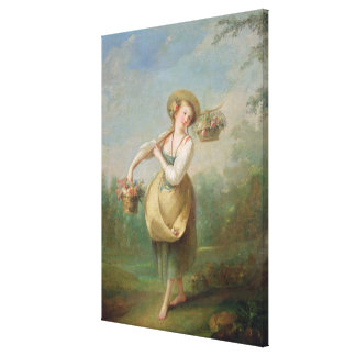 The Flower Girl Stretched Canvas Prints