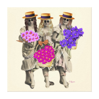 The Flower Girls Wrapped Canvas Canvas Prints