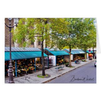 The Flower Markets of Paris Card