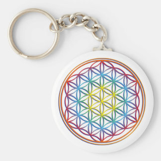 the flower of the life key ring