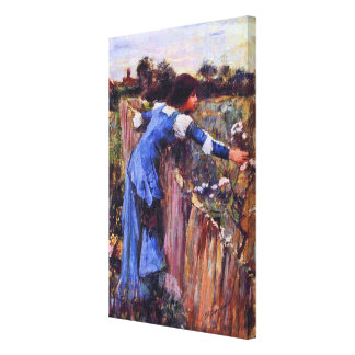 The Flower Picker by John William Waterhouse Stretched Canvas Prints