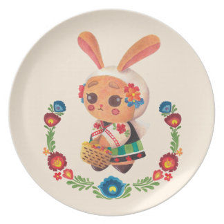 The Flower Polish Bunny Plate