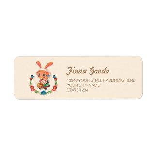 The Flower Polish Bunny Return Address Label