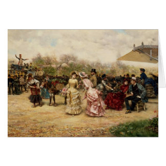 The Flower Sellers, 1883 Card