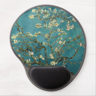 The flower the branch of the almond which blooms gel mouse pad