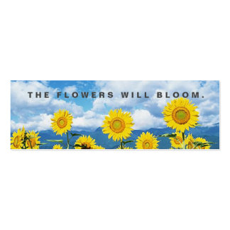The Flowers Will Bloom Random Acts Kindness Card Business Card