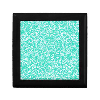 The flowing vines of sea green gift box