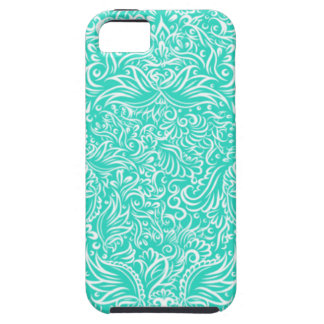 The flowing vines of sea green iPhone 5 covers
