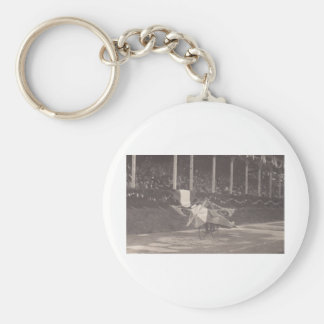 The Flying Bicycle Basic Round Button Key Ring