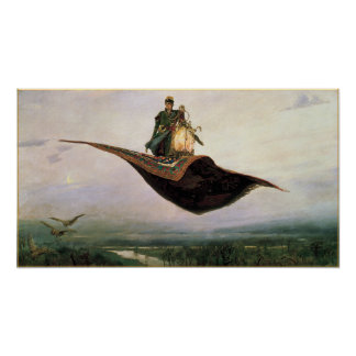 The Flying Carpet Fantasy Art Poster Print