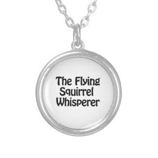 the flying squirrel whisper silver plated necklace