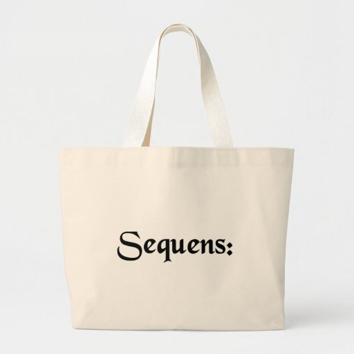 The following: bag
