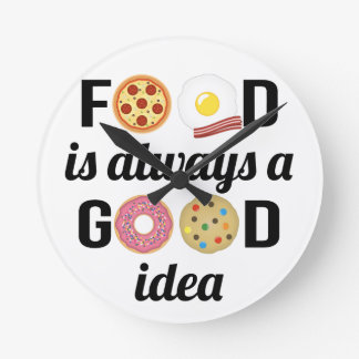 The Food Lover Round Clock
