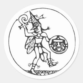 The fool black - Aztec sticker