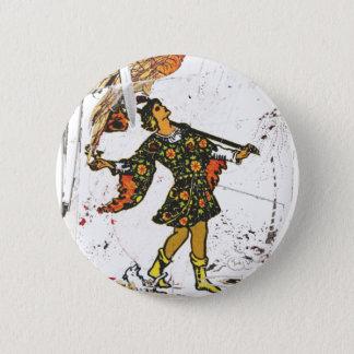 """The Fool"" (RW tarocchi - 0 Button) 6 Cm Round Badge"